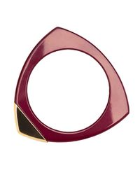 Lizzie Fortunato | Red Burgundy Triangle Bangle | Lyst