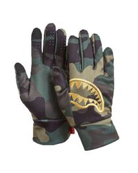 Sprayground Multicolor Gold Stencil Gloves for men