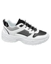 graceland Witte Chunky Sneaker in het Gray