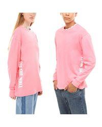 Vans Pink Centrl Langarmshirt