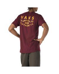 Vans Og Patch T-shirt in Red für Herren