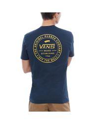 T-shirt Maniche Corte Established 66 di Vans in Blue da Uomo