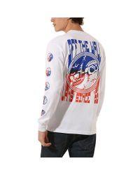 Vans Gradient Skull Langarm-t-shirt in White für Herren