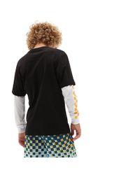 Vans Jungen Long Check Twofer T-shirt in Black für Herren