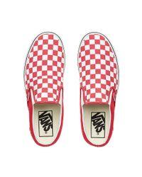 Vans Red Klassische Slip-On-Sneakers