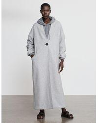 Varana Long Wool Coat - Gray