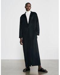 Varana Long Cashmere Coat - Black