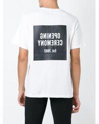 Opening Ceremony Black Logo Print T-shirt for men