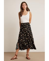 Mango Black Willa Printed Challis Skirt In Jasmine