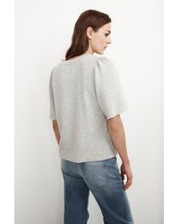 Mango - Gray Astley Fleece Puff Sleeve Top In Heather Grey - Lyst