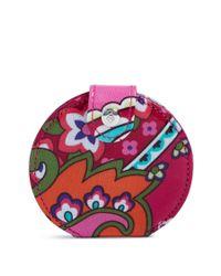 Vera Bradley Pink Factory Style Pocket Mirror