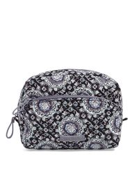 Vera Bradley Gray Iconic Medium Cosmetic Bag