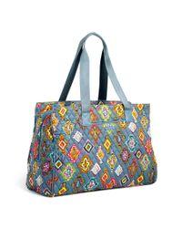 Vera Bradley - Blue Triple Compartment Travel Bag - Lyst