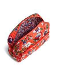 Vera Bradley Red Iconic Large Cosmetic