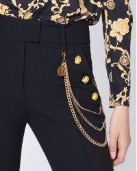 Veronica Beard Black Alair Trouser With Chain