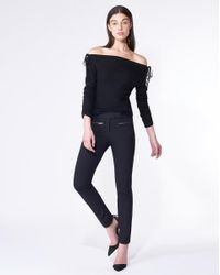 Veronica Beard - Black Sparrow Skinny Pant - Lyst