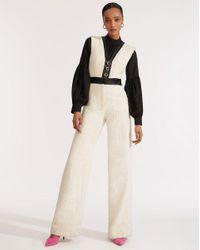 Veronica Beard White Emmeline Jumpsuit