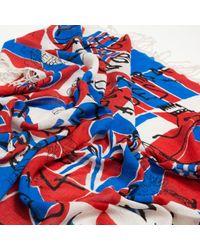 Sciarpa in lana multicolore di Isabel Marant in Red