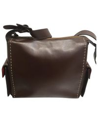 Céline Brown Pre-owned Leather Crossbody Bag