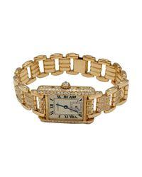 Cartier Metallic Tank Louis Gelbgold Uhren