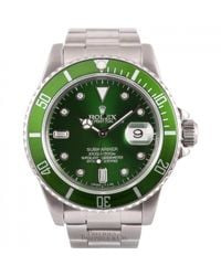 Montres Submariner en Acier Vert Rolex pour homme en coloris Green