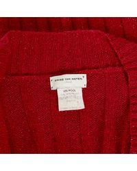 Dries Van Noten Red Wool Knitwear