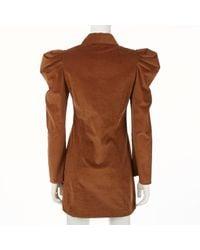 Robe en Soie Marron Petersyn en coloris Brown
