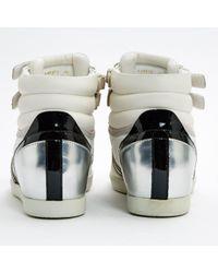 Sergio Rossi White Leder Sneakers
