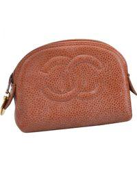 Chanel Multicolor Leder Portemonnaie