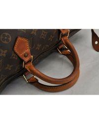 Louis Vuitton Brown Speedy Leinen Handtaschen