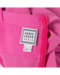 Robe Rose Hervé Léger en coloris Pink