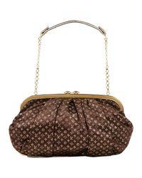 Louis Vuitton Brown Leinen clutches
