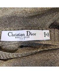 Dior Multicolor Pullover Synthetik Gold
