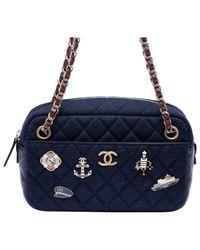 Pochette in lana marina di Chanel in Blue