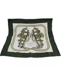 Echarpe en soie Hermès pour homme en coloris Green