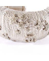Chanel Metallic Silver Metal Bracelets