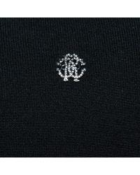 Roberto Cavalli Black Wool Dress