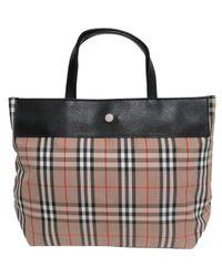 Burberry Multicolor Leinen Handtaschen