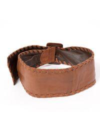Loewe Brown Pre-owned Vintage Camel Leather Belts