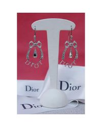 Pendientes en metal plateado \N Dior de color Multicolor