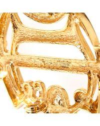 Broche en metal dorado Dior de color Metallic