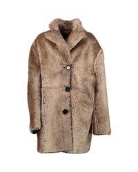 Mantel en Mouton Marron Marni en coloris Brown