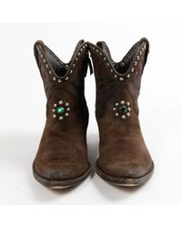 Golden Goose Deluxe Brand Brown Western Boots