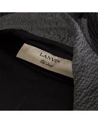 Cappotto in Seta di Lanvin in Gray