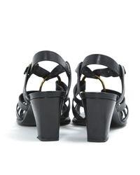 Roger Vivier Black Leder Sandalen
