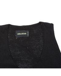 Zadig & Voltaire Black Wool Top