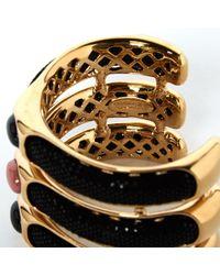 Roberto Cavalli Black Metal Bracelet