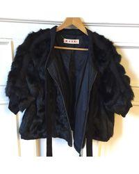 Vest en Vison Noir Marni en coloris Black