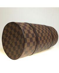 Louis Vuitton Brown Papillon Leinen Handtaschen