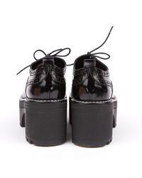 Louis Vuitton Black Leder Schnürschuhe